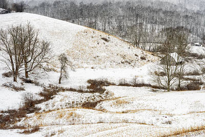 Pasture Hills And Snow Art Print by Thomas R Fletcher