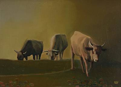 Nature Depiction Painting - Pasture by Stefan Shikerov