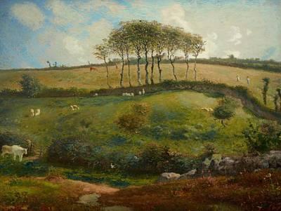 Pasture Near Cherbourg Art Print by Jean-Francois Millet