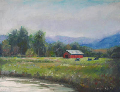 Lake Low Country Painting - Pasture by Sarah Parks
