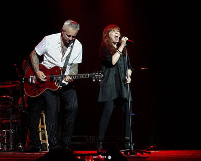 Pat Benatar And Neil Giraldo Art Print by Michael  Wolf