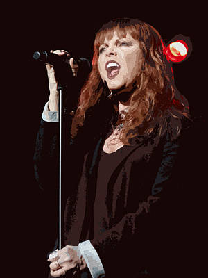 Pat Benatar Art Print by Michael  Wolf