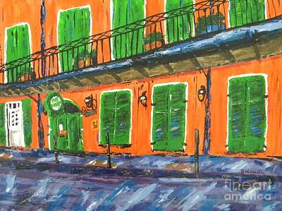 Streetscape Painting - Pat O'brien's by JoAnn Wheeler