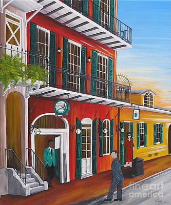 Pat O's Courtyard Entrance Art Print