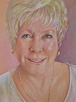 Art Print featuring the painting Pat Self Portrait by Patricia Schneider Mitchell