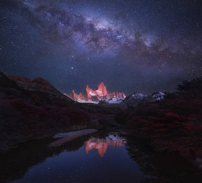 Milky Way Wall Art - Photograph - Patagonia Autumn Night by Yan Zhang