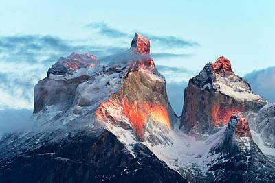 Frost Photograph - Patagonia, That Magic Light by Carlos Guevara Vivanco