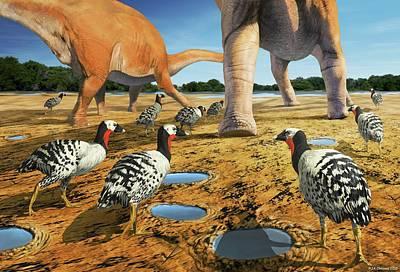 Patagopteryx Art Print by Jaime Chirinos
