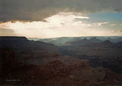 Photograph - Patch Of Blue. Grand Canyon National Park by Connie Fox