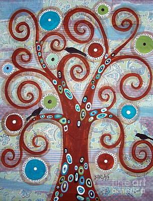 Folk Painting - Patch Tree by Karla Gerard
