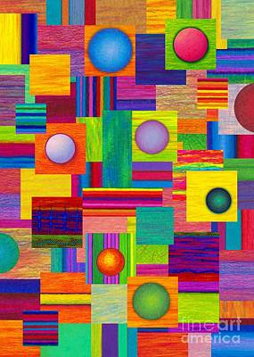 Colored Pencil Abstract Painting - Patches by David K Small
