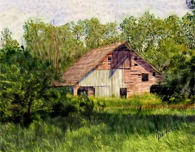 Patchwork Barn Art Print by Ric Darrell