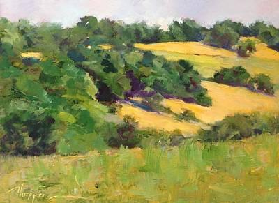 Patchwork Fields In France Art Print by Carol Hopper