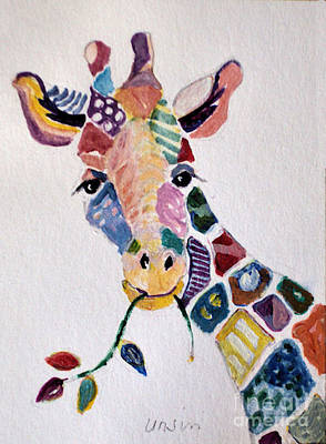 Painting - Patchwork Giraffe by Diane Ursin
