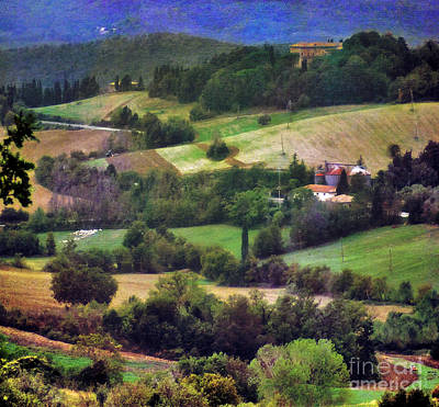 Photograph - Patchwork Landscape Of Tuscany by Karen Lewis