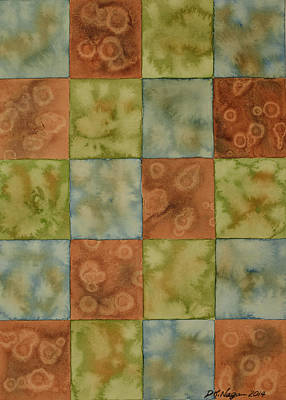 Painting - Patchwork Quilt Design by DK Nagano
