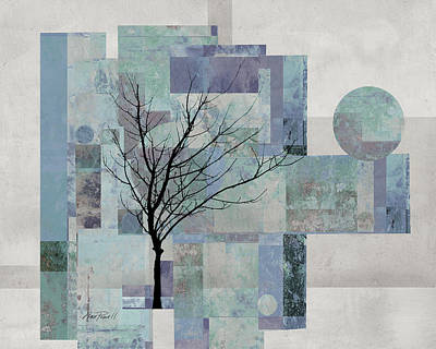 Digital Art - Patchwork Tree by Ann Powell