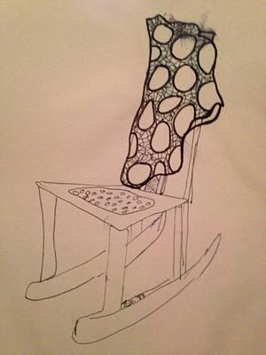 Drawing - Patci's Chair by Erika Chamberlin