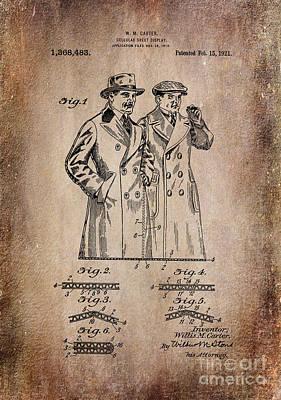 Patent Art 1921 Cellular Sheet Display Antiqued Art Print