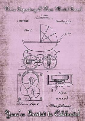 Patent Art Baby Carriage 1920 Lark Invite IIi Art Print by Lesa Fine