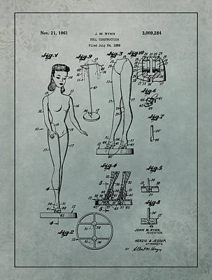 Patent Art Barbie Doll Art Print