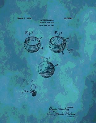 Patent Art Golf Ball Art Print by Dan Sproul