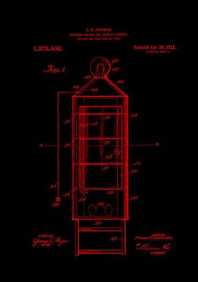 Digital Art - Patent Art Popcorn Display Red by Lesa Fine