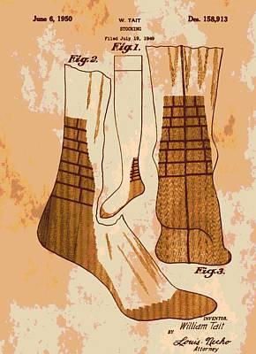 Patent Art Socks Art Print