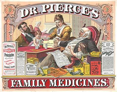 1874 Photograph - Patent Medicine Ad 1874 by Padre Art