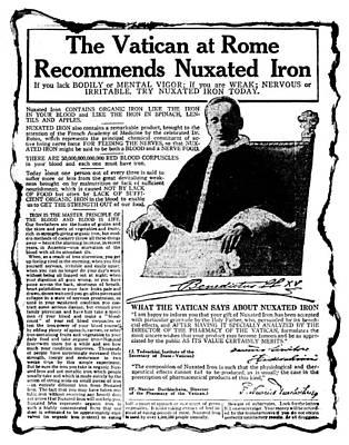 Patent Medicine Ad, C1920 Art Print by Granger