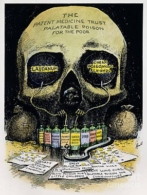 Patent Medicine Cartoon Art Print