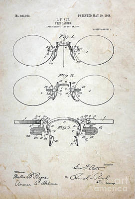 Patent - Vintage Eyeglasses Art Print by Paul Ward