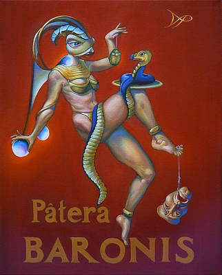 Cobra Painting - Patera Baronis by Patrick Anthony Pierson