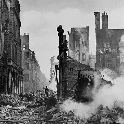 Destruction Photograph - Paternoster Row After Bombing by Cecil Beaton