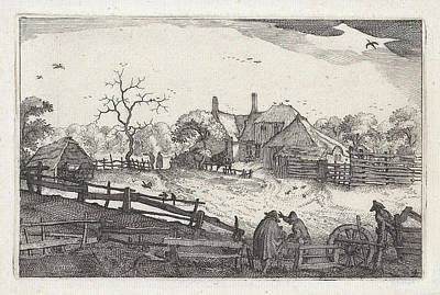 Old Country Roads Drawing - Paters Inn Near A Country Road, View Near Haarlem by Artokoloro