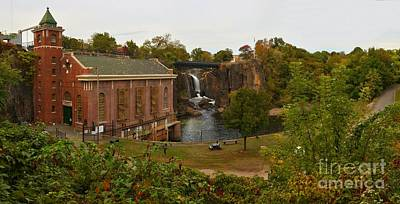 Photograph - Paterson Great Falls Hydro-electric Plant Panorama by Adam Jewell