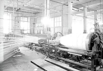 Paterson, New Jersey - Textiles. Large Textile Machine Art Print
