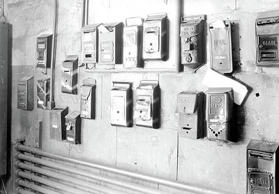 Mail Box Photograph - Paterson, New Jersey - Textiles. Numerous Mail Boxes by Litz Collection