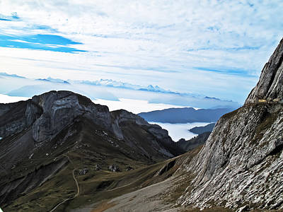 Photograph - Path Across The Alps by Elvis Vaughn