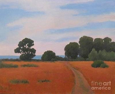 Painting - Path At Carpinteria Bluffs by Jennifer Boswell