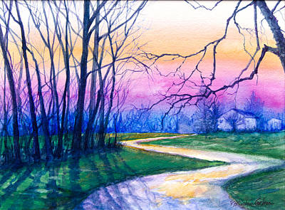 Path At Cloverly Road Original by Patricia Allingham Carlson