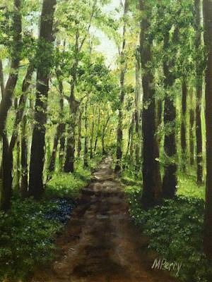Painting - Path Behind Fonthill by Margie Perry
