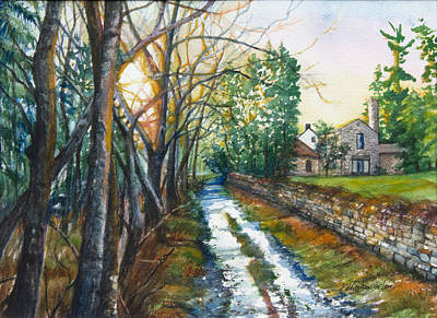 Pennypack Painting - Path By Pennypack Creek by Patricia Allingham Carlson