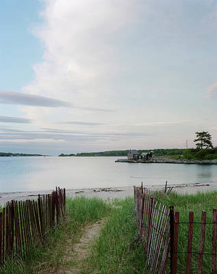 Maine Nature Photograph - Path Down To Willard Beach At Sunset by Mark Marchesi