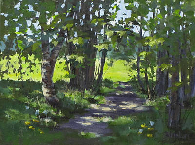 Painting - Path In The Park by Karen Ilari