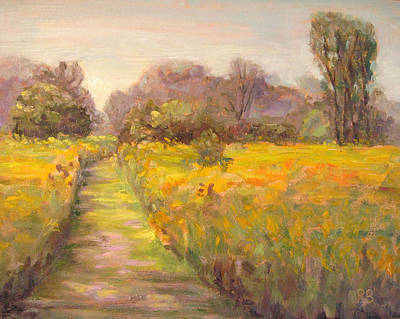 Painting - Path In The Prairie by Robie Benve