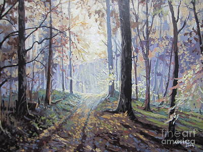 Painting - Path In The Woods by Andrei Attila Mezei