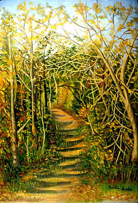 Painting - Path In The Woods by Madeline  Lovallo