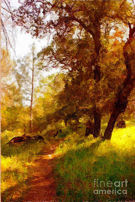 Painting - Path  In The Yellow Woods by Danuta Bennett