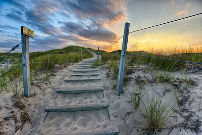 Sand Fences Photograph - Path Over The Dunes by Sebastian Musial